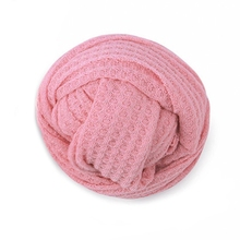 Newborn Baby Knitted Swaddle Wraps Receiving Blanket Toddler Photography Props 40JC