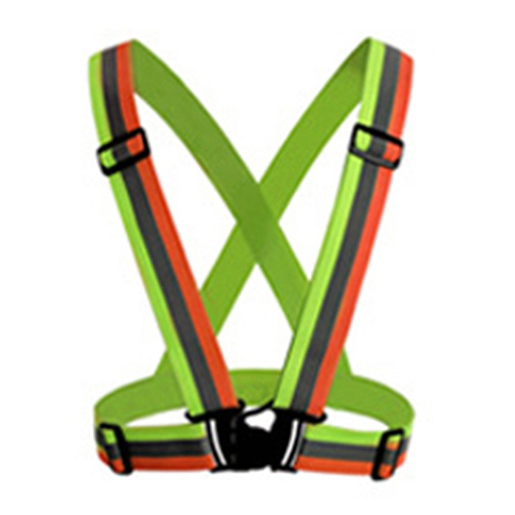 Reflective Straps Night Running Reflective Clothing Reflective Vest Adjustable Safety Vest Reflective Elastic Band Dropshipping
