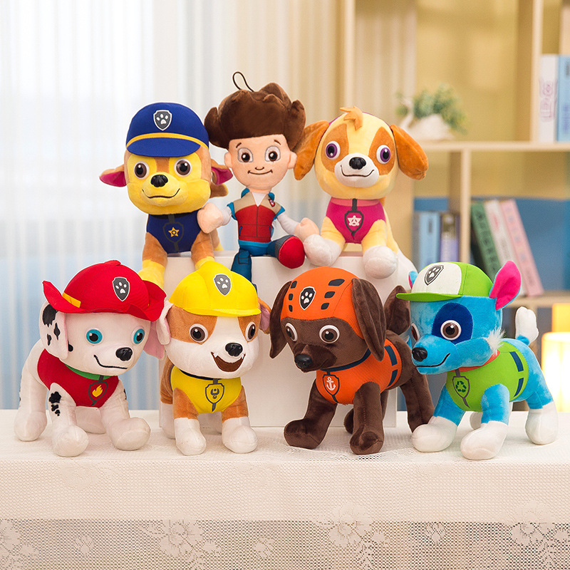 30CM Paw Patrol Kawaii Plush Doll Anime Character Cotton Soft Puppy Patrol Canine Dolls Dog Rescue Toys For Children 2D04