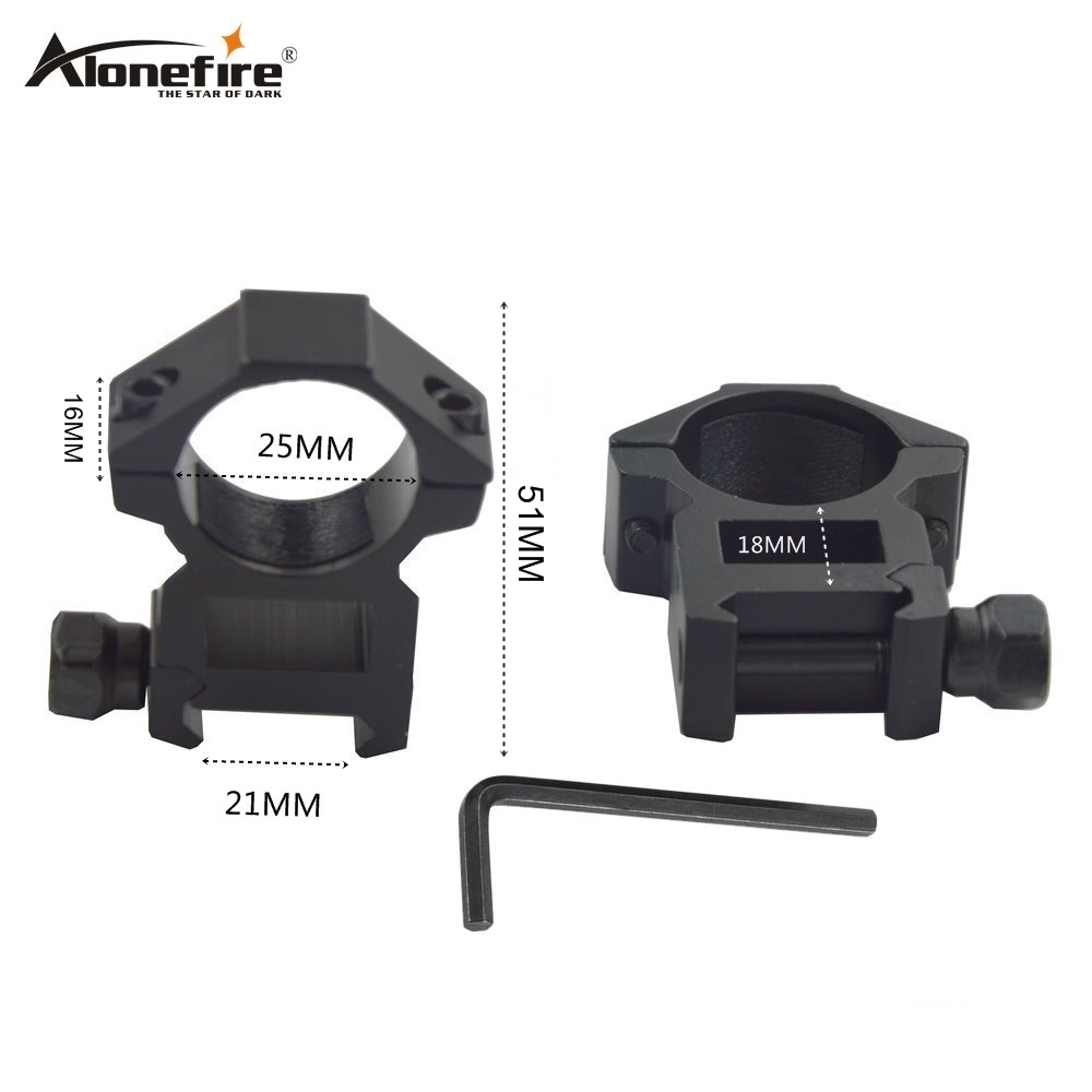 Alonefire M2020 25.4mm Rings 21mm Weaver Picatinny Rail Adapter Airsoft Rifle Shot Gun Lights Laser Sight Scope Hunting Mounts