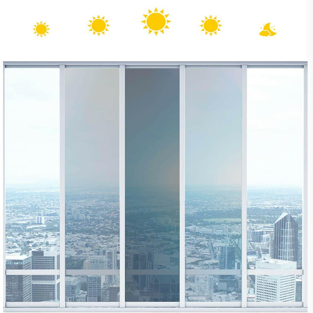 100% SUNICE Car Window Tint 69%/25%vlt Photochromic Film Heat Control Color Changed Nano Ceramic Film For Car Tinting For Car
