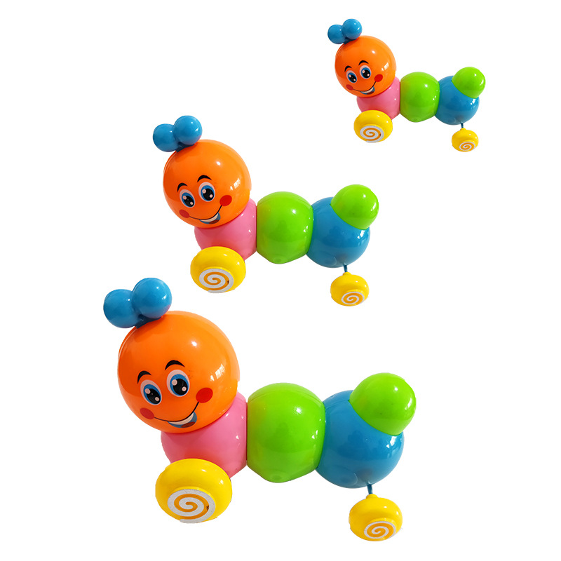 Children Winding Colorful Caterpillar Children'S Educational Toy Spring Caterpillar Color Bright Cute Twist