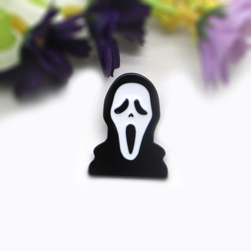 Halloween Ghost Broche Horror Movie Scream Emaille Pin Kids Mannen Badge Revers Pin Rugzak Decoratie Cartoon Anime Hoed Pins A118