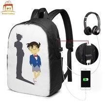 Detective Conan Backpack Detective Conan Backpacks Multi Function Men - Women Bag School High quality Bags groo vs conan