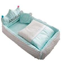 Портативная кроватка для новорожденных, детская кроватка для сна, детская кроватка для путешествий, Детская Хлопковая Защитная уличная кро...