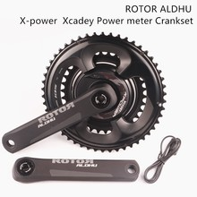 ROTOR ALDHU X power  Xcadey Power meter Crankset with shimano 105 r7000 110 bcd 53 39/52 36/50 34  chainring