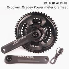 ROTOR ALDHU x power Xcadey medidor de potencia bielas con shimano 105 r7000 110 bcd 53 39/52 36/50 34 plato