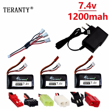 5Pcs/set For Yizhan Tarantula X6 H16 7.4v 1200mAh Lipo Battery For RC Drone Quadcopter 2S 7.4V battery for WLtoys V666 V262 V323 image