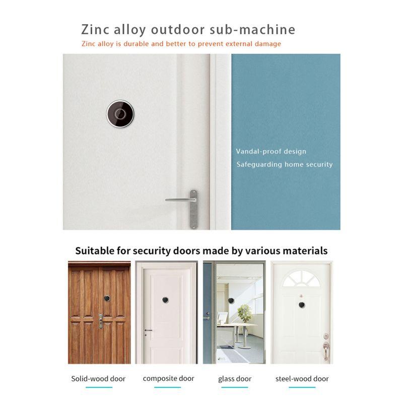 Купить с кэшбэком Digital Door Viewer 3.5inch Peephole Door Camera 130 Degree Lens View Home Security Viewer