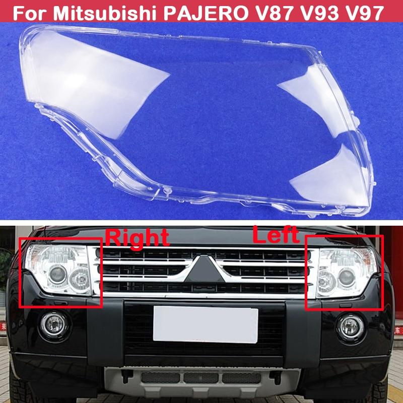 Крышка для автомобильных фар, крышка для фар, прозрачный абажур, крышка для фар, стекло для Mitsubishi PAJERO V87 V93 V97
