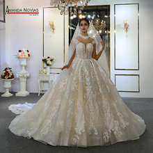 Abiti da mariée abito da sposa della principessa su ordine vestito da cerimonia nuziale reale di lavoro 100% di alta qualità