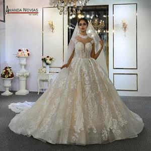 Image 1 - robes de mariée wedding dress princess custom made wedding dress real work 100% high quality