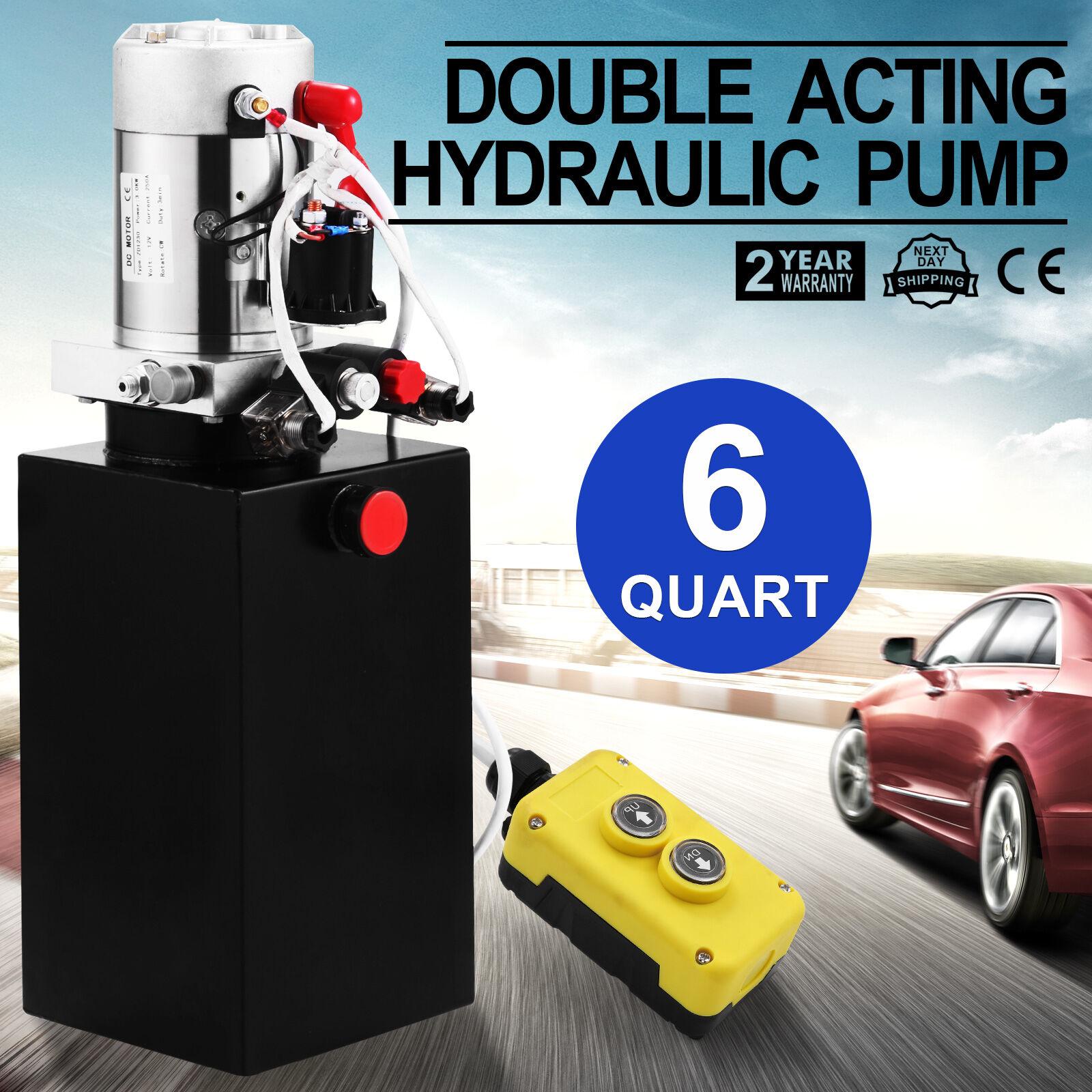 Unité hydraulique 6L, pompe hydraulique 12V Volt Double effet remorque en métal