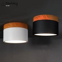Modern Ceiling Lights Nordic Iron+wood Lamp LED Downlight spot light 5W warm white AC85-265V