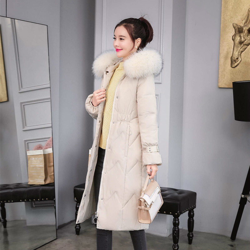 2020 Brand Clothes Large Fur Duck Down Jacket Women Winter Long Down Coat Female Thick Warm Casaco Overcoat Hiver LW1755