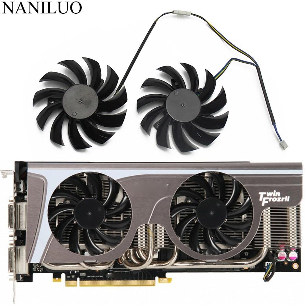 2PCS/lot New 75MM PLD08010S12HH 0.35A Cooler Fan ForMSI GeForce GTX 580/570/560/560Ti/480/465/460 GTX770 Video Card Cooling Fan