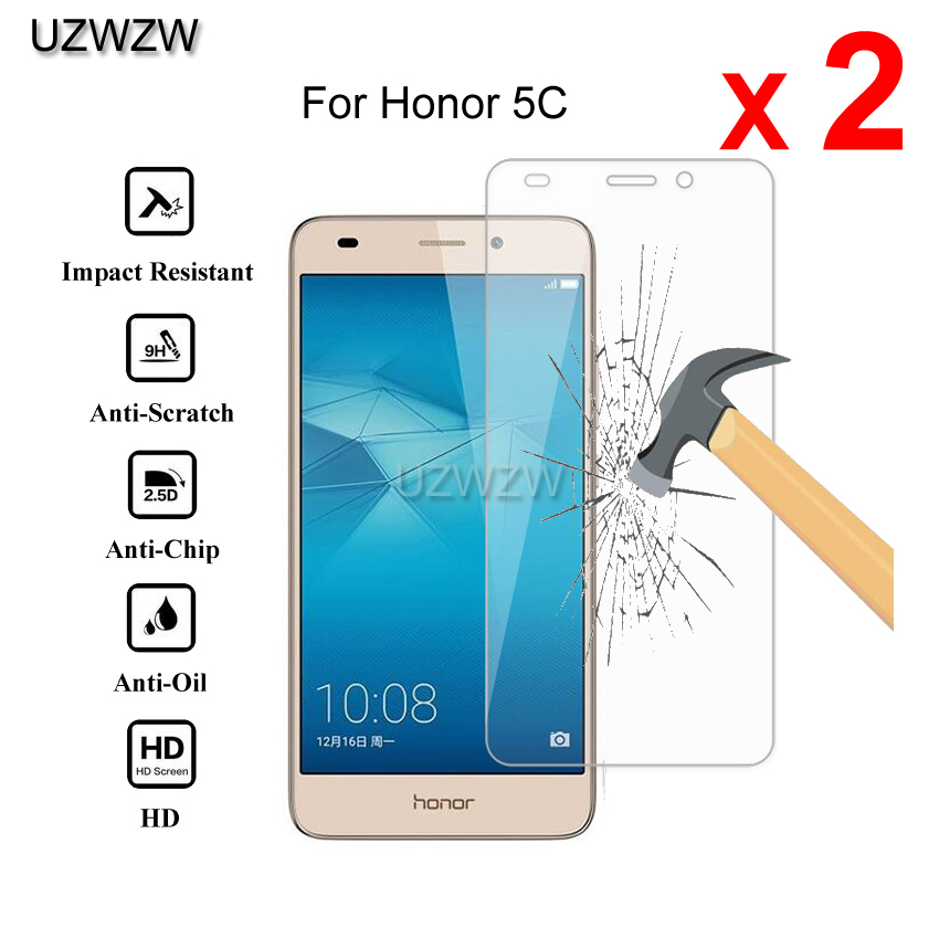 2pcs For Huawei Honor 5C Glass Premium 2.5D Tempered Glass Screen Protector For Huawei Honor 5C Protective Glass