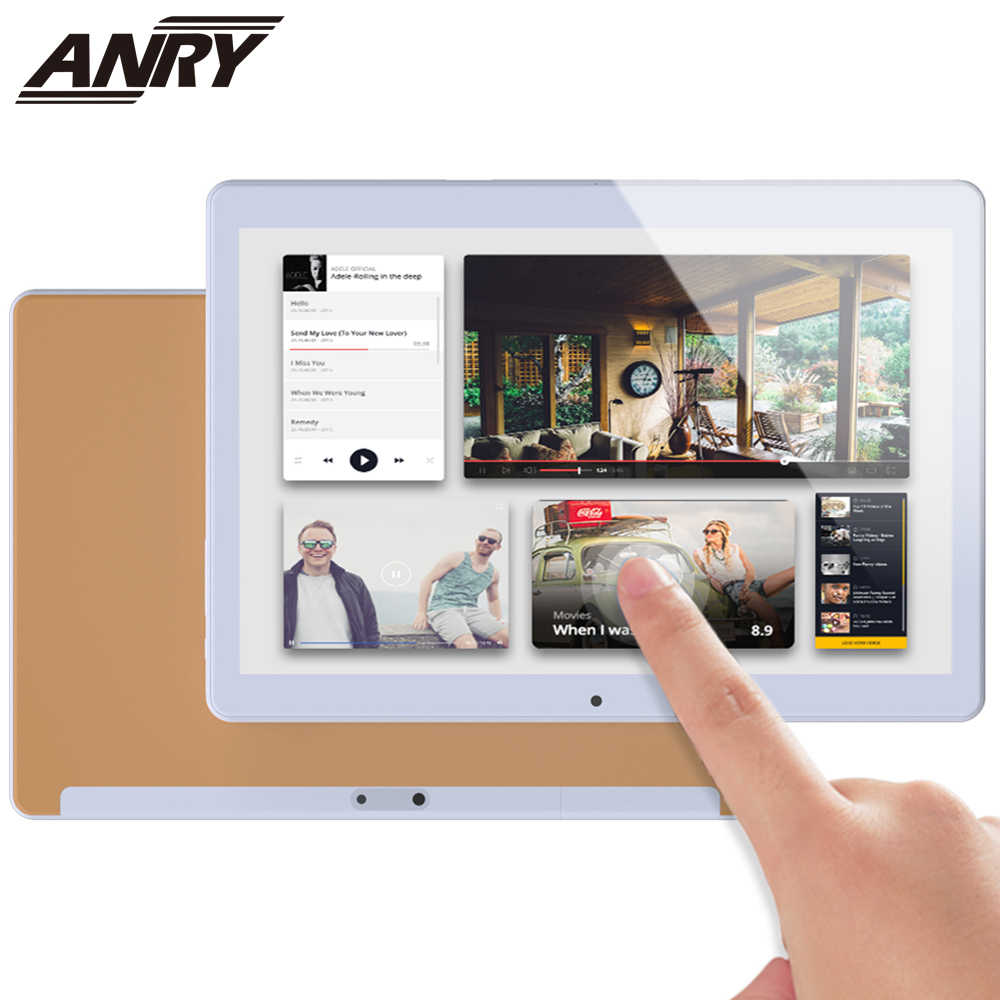 ANRY 10.1 inch 4G Telefoontje Android Tablet WiFi Gaming Tab 8 GB RAM 128GB ROM Deca Core processor 1920x1200 IPS HD Display