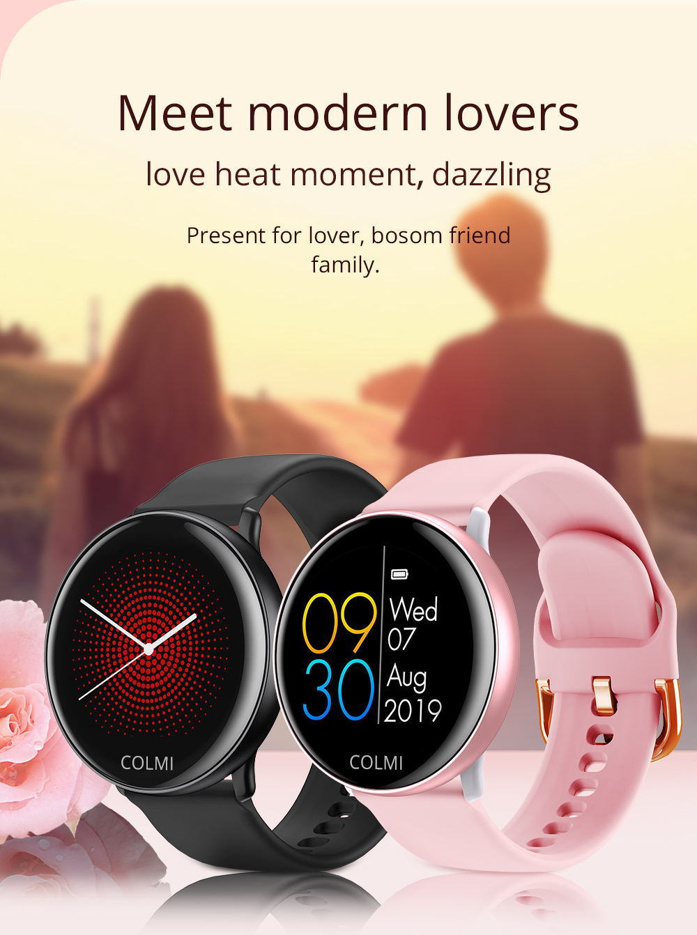 ABHU-COLMI SKY 2 Smart Watch IP68 Waterproof Heart Rate Monitor Bluetooth Sport Fitness Tracker Men Smartwatch for IOS Android