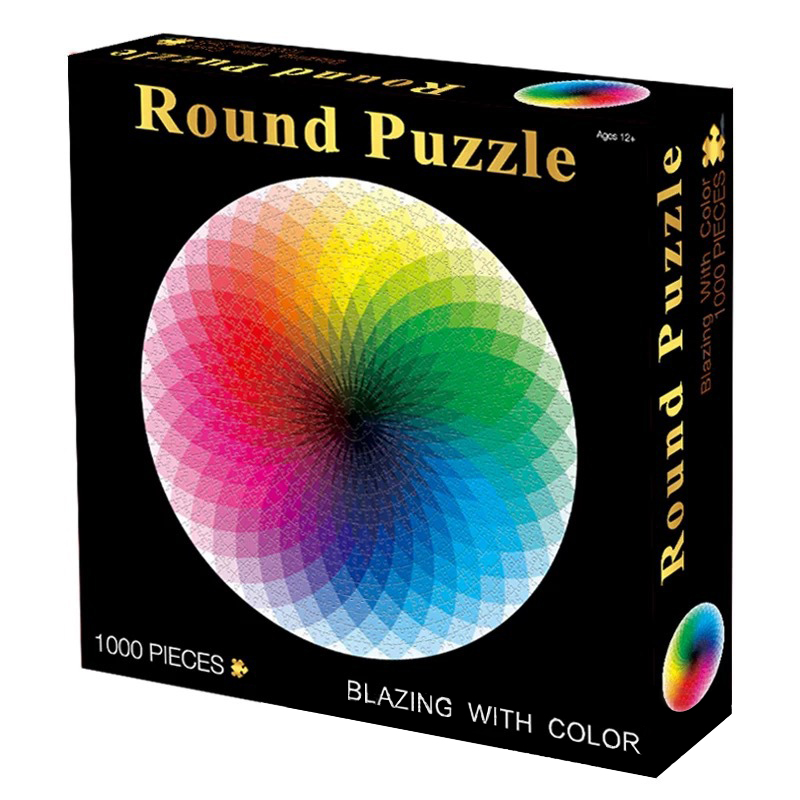 New In Stock 1000pcs/set Colorful Rainbow Round Geometrical Puzzle Adult Kids DIY Educational Reduce Stress Toy Jigsaw Puzzle