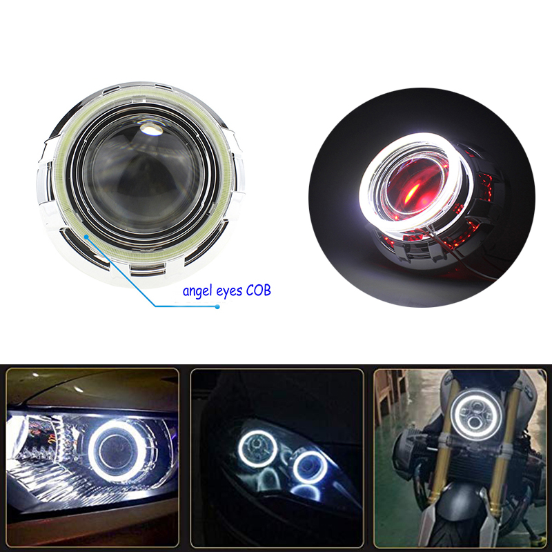 2x Angel Eyes 60mm 70mm 80mm 90mm 100mm 110mm 120mm Halo Ring Car Led Fog Light Motorcycle Daytime Running Light DRL Headlight 4