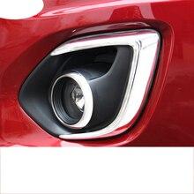 Lsrtw2017 Abs Car Front Rear Foglight Cover Trims for Mitsubishi Outlander Sport Asx RVR 2011-2016 Interior Accessories накладка заднего бампера mitsubishi mz576692ex для mitsubishi asx 2016