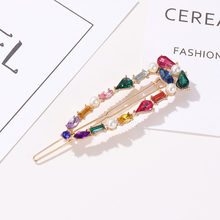 Modyle Fashion Girl Hair Claw Geometric Hairpin Crab Retro Crystal Hair Clips Hair Accessories for Women Jewelry