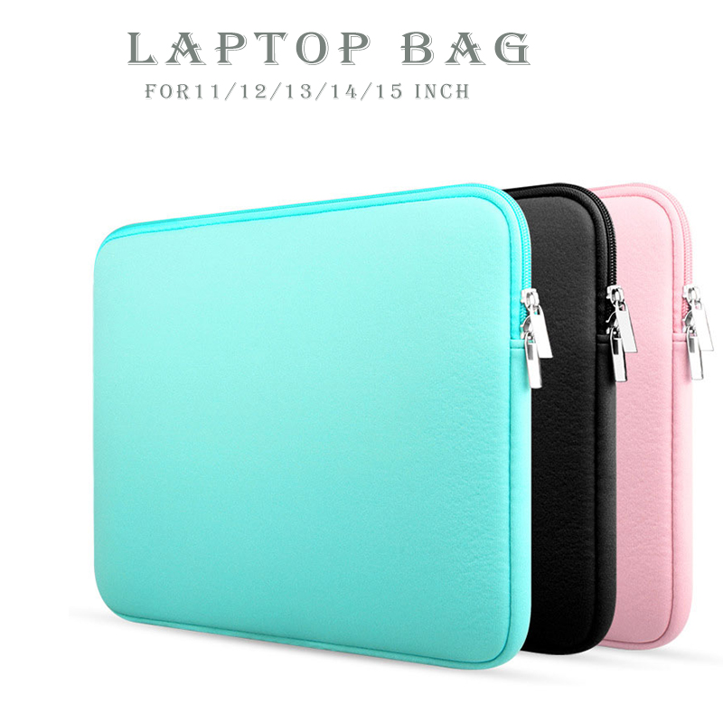 11/12/13/14/15 Inch Soft Sleeve Laptop Bag For Apple Macbook AIR PRO Retina Notebook Laptop Pouch Case PC Cover Case