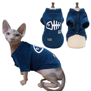Cat Clothes Autumn Winter Warm Clothes For Cats Dogs Sphynx Kitty Kitten Coat Jackets Printed Cat Costumes Pet Clothing Outfits image