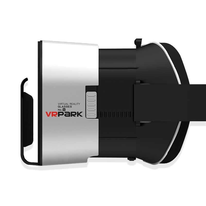 Vrpark V5 3D Virtual Reality Kacamata 3 D Film Kacamata Kacamata Headset Helm Perangkat VR BOX untuk iPhone Android Smartphone