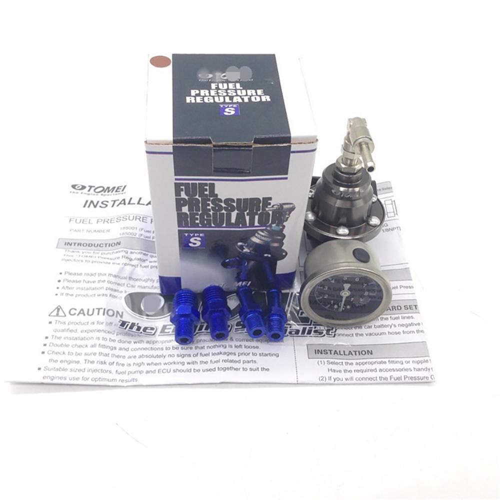 Универсальный Регулируемый регулятор давления топлива tomei с оригинальным манометром и инструкциями, аксессуары для манометра топлива