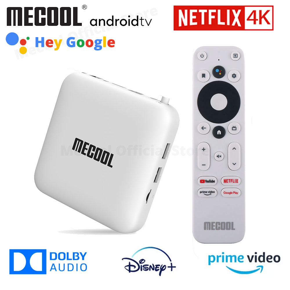 ТВ-приставка Mecool KM2 Netflix 4K Android Amlogic S905X2 2 Гб DDR4 USB3.0 SPDIF Ethernet WiFi Prime Video HDR 10 Widevine L1 TV Box