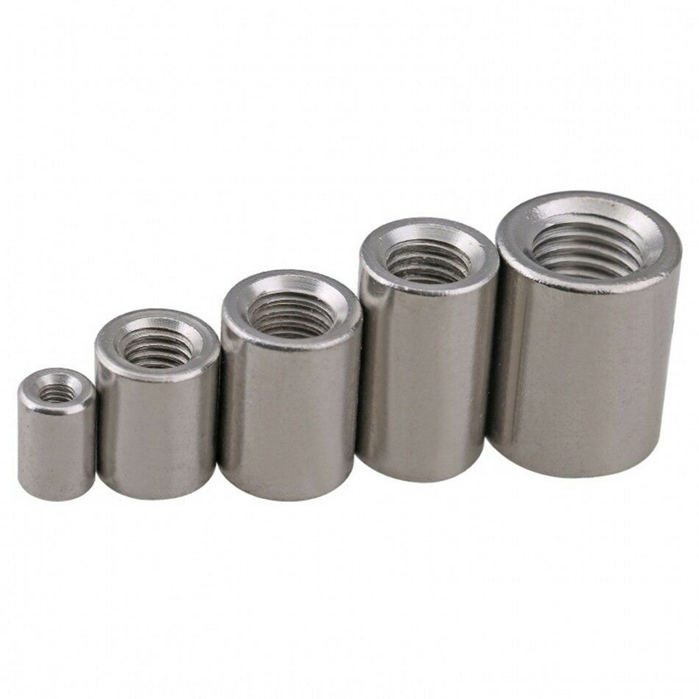 304-A2 stainless steel M8 to M16 round rod stud connector extended connection nut full thread stud round connection nut
