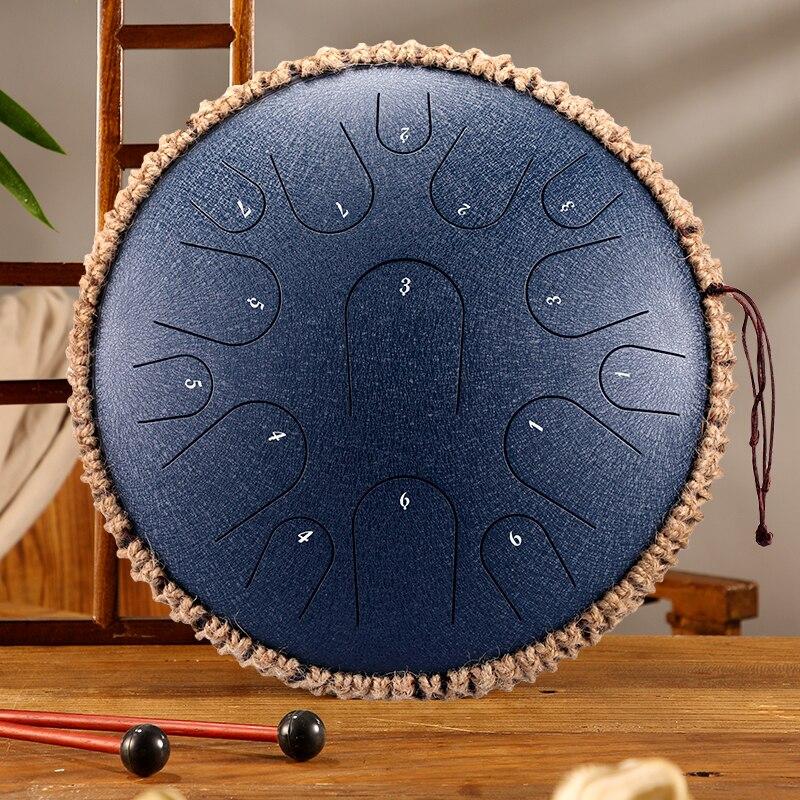 Стальной барабан с язычком 13 дюймов 15 тонов барабан D ключ барабан перкуссионный инструмент йога 12,5 дюймов 11 Note C Ключ ручной барабан