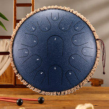 Tambor de lengüeta de acero de 13 pulgadas y 15 tonos, tambor de tanque de llave D, instrumento de percusión, Yoga, 12,5 pulgadas, 11 notas, C, tambor de sartén de mano