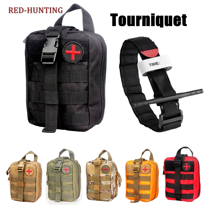 Airsoft First Aid Bag Only Molle Medical EMT Pouch Outdoor Tactical Emergency Utility Pack Outdoor Tourniquet Stap Equipment