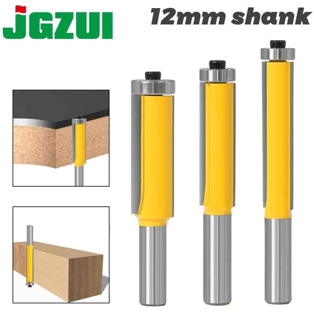 "12mm 1//2/"" End Dual Flute Wood Edge Flush Trim Router Bearing Cutter Bit Tool 1//2"