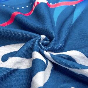 Image 3 - CUPSHE nadruk w stylu boho ręczniki plażowe 2020 damskie wakacje z mikrofibry obszycie dookoła ręcznik kąpielowy z pomponem 8 stylów