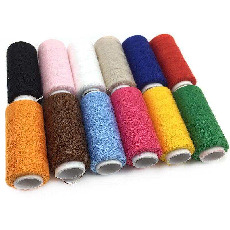 Thread Hilos Para Bordar Crochet Thread 100% Polyester Machine Elastic Sewing Supplies 1pc 200yards