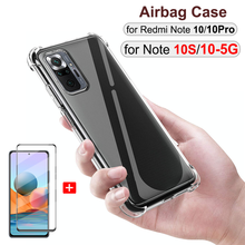 360° proteção, protetora completa silicone capa Xiaomi Redmi Note 10S 10 Pro pelicula vidro protetor, anti choque capinha Note10 Pro película e capa Redmi Note 10 S 10Pro 5G Note10S