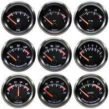 52 مللي متر محرك متدرج السيارات السيارات مقياس سرعة الدوران دفعة المياه النفط درجة الحرارة ضغط فولت الهواء الوقود العادم الغاز درجة الحرارة EGT مقياس بار Psi RPM