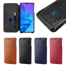 For Oppo Realme 5 Case Business Leather Flip Stand 360 Degree Protection Shockproof Wallet Cover For Oppo Realme X Case Card for oppo realme 3 pro case leather wallet full protection shockproof flip stand cover oppo realme 5 pro case card slot luxury