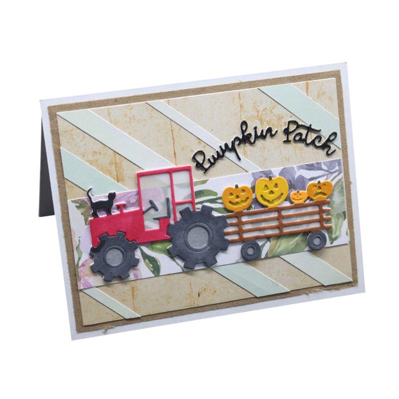 Camion chat métal matrices de découpe pochoir Scrapbooking album de bricolage timbre papier carte gaufrage décor artisanat - 3