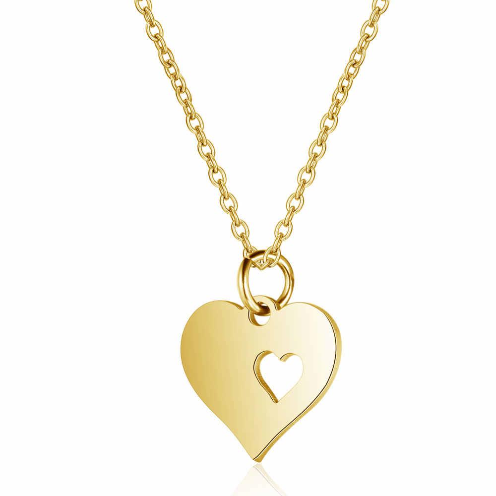 316l aço inoxidável colar de ouro feminino gargantilha jóias 40cm + anjo pena colar lotus chakra coração estrela fatima nunca mudar