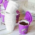 100pc одноразовые бумажные фильтры для кофе Многоразовые K чашки фильтр для кофе Pods для Keurig K фильтр кофейный бумажный кофемашина