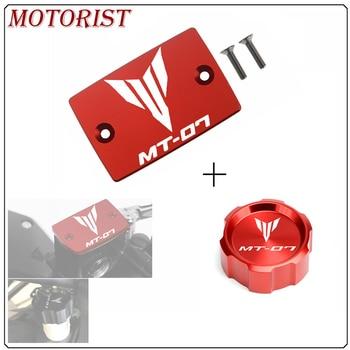 Części zamienne do motocykli dla Yamaha MT07 FZ07 MT-07 MT 07 2014-2017 2018 przednie i tylne płyn hamulcowy cylindra mistrz zbiornika pokrywa Cap