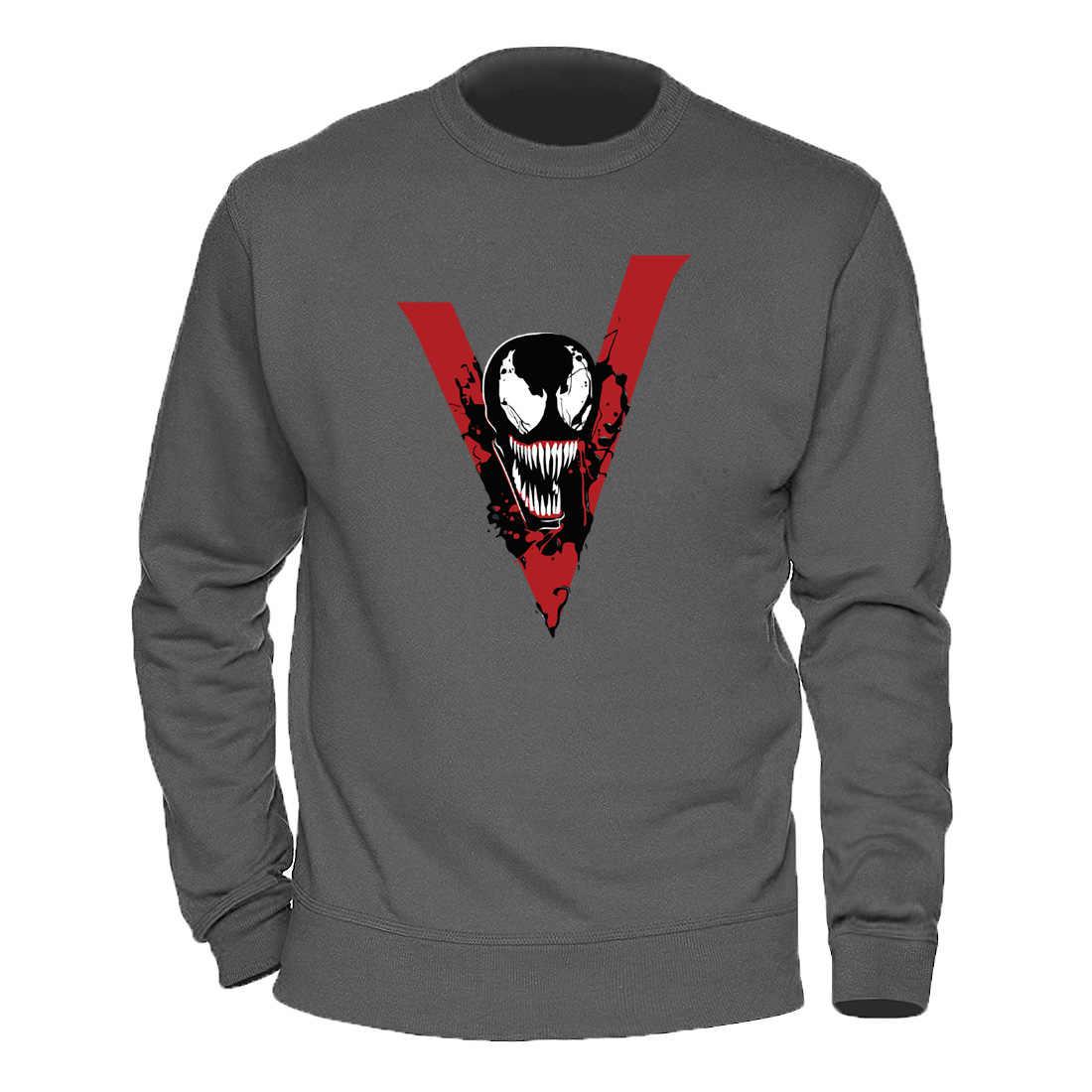 남성 풀오버 Venom Marvel Film Anime Clothes 2020 따뜻한 겨울 가을 스웨터 Fahison Funny Casual Hoodies o-넥 Hoody