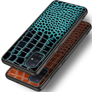 Image 3 - تمساح حقيقي حقيبة جلدية لسامسونج غالاكسي A51 A71 A10S A20S S20 S10 زائد A50 A70 A81 A91 A21 A01 أفضل حماية حالة