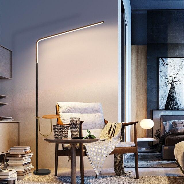 Postmodern minimalismo chão LEVOU lâmpada para quarto Preto/Branco Ferro candeeiro de pé AC110 220v 24W Salas de estudo de Iluminação de Escritórios