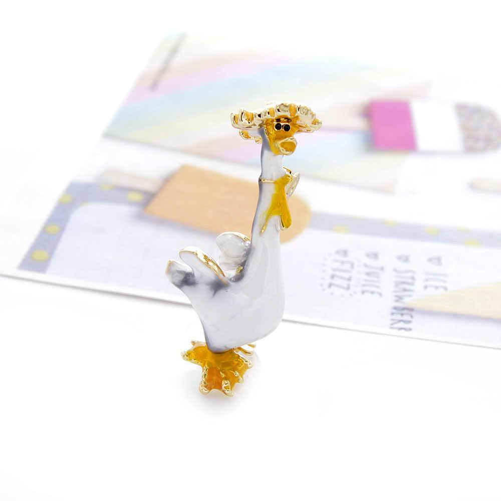 Cindy Xiang Smalto Anatra Spille Unisex di Modo Animale Spille Vivid Uccello Spille 2 Colori Avaible Cappotto Desgin Spille di Alta Qualità